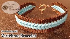 "This video tutorial from The Potomac Bead Company teaches you how to make our ""Vertebrae Bracelet"" using a mix of peyote and flat herringbone stitches, with ..."