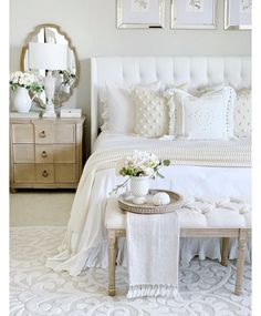 White on white bedroom.