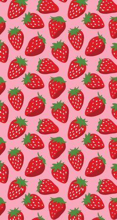wallpaper, strawberry, and background Bild