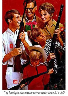 Family  Retro Collage Greeting Card by hilarykay on Etsy, $2.90  #christmas