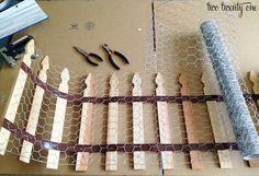 Garden Ideas: diy garden fencing use hardware cloth folded out a...