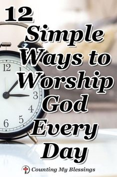 Bible Verses About Faith:You and I can worship God every day by taking our ordinary walking around lives and offering them to Him - here are 12 simple ways to do just that. Bible Prayers, Bible Scriptures, Salvation Scriptures, Christian Living, Christian Life, Christian Women, Christian Marriage, Prayer Quotes, Bible Quotes