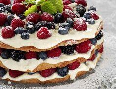 En dejlig let lagkage (let at lave og kalorie let) :-D