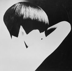 Grace Coddington modeling one of Vidal Sassoon's hairstyles, 1965.