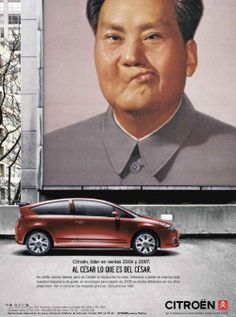 citroen cars brand mao china advertising ad ads