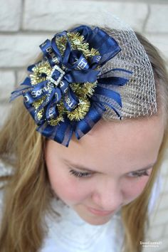 Something Awesome Printed Ribbon Bow! Something old, new, borrowed, blue! Wedding themed bow!