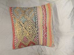 Vintage Turkish Handwoven Kilim Pillow Cover 16x16free by Cultere, $55.00