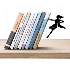 Supergal bookend by Artori Design cool gifts | Stuff I like | Pinterest home, decor, ideas, DIY, home decor ona  budget, apartment, modern, classy, cheap, tips, colorful, minimalist,elegant home, office, bedroom, decorations, kitchen, simple, wood, floor, wallpaper