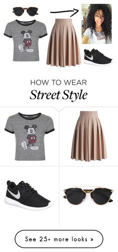 """La Street Style"" by livs-a-penguin on Polyvore featuring Chicwish, Topshop, NIKE and Christian Dior"