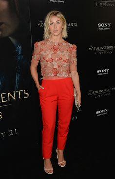 "Julianne Hough At ""The Mortal Instruments: City Of Bones"" Premiere in Jenny Packham"
