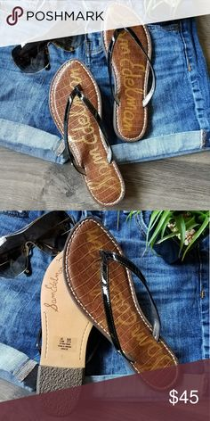 Sam Edelman sandal New in box.  Sam Edelman black patent sandal.  Super cute and chic.  Pet free and smoke free home. Sam Edelman Shoes Sandals