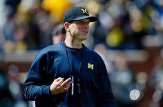 michigan wolverines | Apr 4, 2015; Ann Arbor, MI, USA; Michigan Wolverines head coach Jim ...