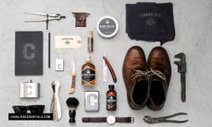 "'Cavalier Essentials is a line of vintage products designed for the rugged, yet sophisticated gentleman. Cavalier was always briefly explained as--""If Steve McQueen carried a beat-up leather duffle bag on the back of his motorcycle; what would be in it and how would the products look?"" From http://cavalieressentials.com/"