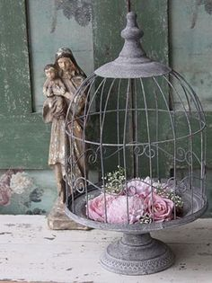 ♥ great use of an old bird cage