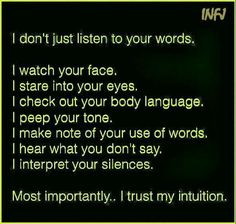 INFJ- observant and detective. You can't hide anything without INFJ noticing! That intuition though! Thing 1, Infj Problems, No More Drama, Infj Infp, Infj Traits, Infj Personality, Thats The Way, Wise Words, Me Quotes
