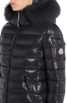 Moncler Black Badyfur Quilted Down Puffer with Removable Genuine Fox Fur Trim Jacket Size OS (one size) Moncler Jacket Women, Ski Sport, Down Puffer Coat, Nordstrom Gifts, Spring Jackets, Fox Fur, Puffer Jackets, Fur Trim, Stay Warm