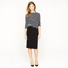 Gorgeous way to make a pencil skirt casual