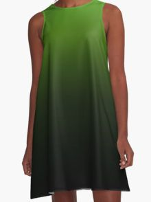 Faded Green A-Line Dress