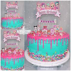 Lol surprise cake , pastel de Lol surprise Best Picture For Lol Surprise Cake glitter For Your Taste You are looking for something, and it is Doll Birthday Cake, Funny Birthday Cakes, 7th Birthday Party Ideas, 5th Birthday, Lol Doll Cake, Surprise Cake, Bday Girl, Cute Cakes, Party Cakes