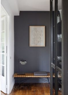 Potential accent wall in bedroom color. Identifying 12 of the Most Popular Interior Design Styles: Modern Room Colors, Dark Grey Walls, Popular Interiors, Decor, House Interior, Living Room, Home, Popular Interior Design, Home Decor