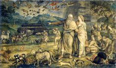 El embarque en el arca de Noé | Michiel Coxcie (1499-1592). Patrimonio Nacional