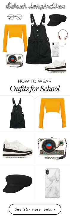 """Outfit to school"" by gretusska on Polyvore featuring River Island, STELLA McCARTNEY and Recover"