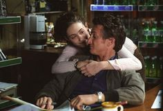 Still of Sean Penn and Emmy Rossum in Río místico (2003)