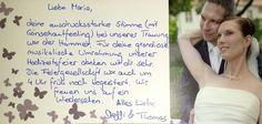 Dankeskarte von Steffi & Thomas an Maria Best Music, Thanks Card, Mood, Newlyweds, Cordial, Legends, Cards