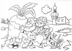 pohádka o řepě - Google keresés Kindergarten, Early Education, Conte, Book Activities, Coloring Pages, Fairy Tales, Wonderland, Preschool, Language