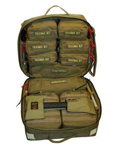Investing in survival gear can significantly improve your chances of surviving a natural disaster. You should put together an extensive survival kit and work on your survival skills as much as possible. Tactical Medic, Tactical Bag, Tactical Survival, Survival Gear, Survival Prepping, Combat Medic, Combat Gear, Tactical Equipment, Medical Equipment
