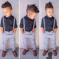 2PCS Kids Baby Boy Long Sleeves Shirt Top + Pants Suspenders Clothes Outfit 2-6Y #BabyBoysClothes #DressyEverydayHoliday