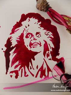 Beetlejuice, Beetlejuice, Beetlejuice! (made from beet juice)  For more works, visit my facebook page: www.facebook.com/nadienska