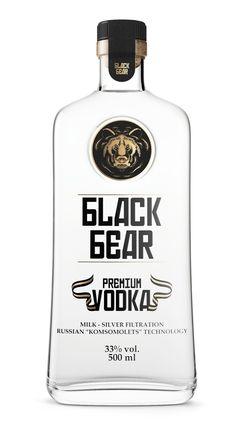 Black Bear premium vodka. Designed by Guilherme Jardim