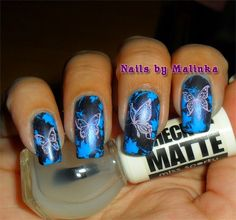 Nails by Malinka: Vlinders - Butterflies - Marianne Nails 17 - SdP-B01