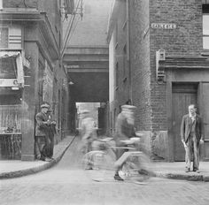'Photograph showing part of Cable Street, London', Nigel Henderson, – Tate Archive London Pictures, London Photos, London History, British History, Vintage London, Old London, London Street Photography, East End London, Old Photos