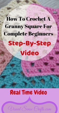 Sewing For Beginners Projects how to crochet a granny square - Have you ever wanted to learn how to crochet, but have never been able to get the hang of it? Well I'm going to show you how to crochet a granny square which will help you Crochet Granny Square Beginner, Point Granny Au Crochet, Granny Square Häkelanleitung, Granny Square Tutorial, Granny Square Projects, Beginner Crochet Tutorial, Crochet Stitches For Beginners, Beginner Crochet Projects, Granny Square Crochet Pattern