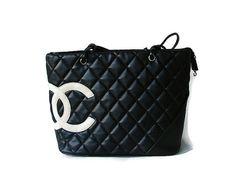 Chanel vintage black bag. Chanel black quilted by OnceLostBoutique, $49.99 #vintagebags