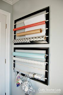 Frames turned wrapping paper organizer