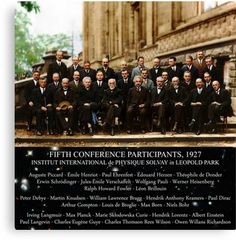 1927 Solvay Conference (spacetime bg), posters, prints by GodsAutopsy Hendrik Lorentz, Paul Dirac, Canvas Prints, Framed Prints, Quantum Mechanics, Space Time, Albert Einstein, Poster Prints, Posters