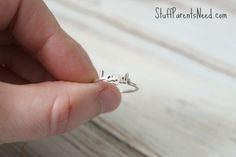 Beautiful personalized stacking rings. These are petite enough that I can stack two on my pinky! Surprisngly affordable, too.