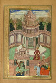 Bahram Gur visiting the Princess of Arabia in the Sandalwood Pavilion. From the…