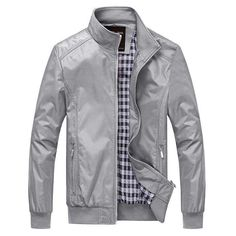 Back To Search Resultsmen's Clothing Jackets & Coats Hard-Working Tiepus Solid Color New 2018 Casual Jacket M-5xl 6xl 7xl Men Spring Autumn Outerwear Standing Collar Business Jacket Man