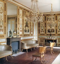 The Grand Salon belonging to King Gustaf III of Sweden is considered by many to be the finest Pompeian-style room in Europe