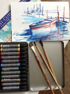 Our Facebook fan Victoria Grigorieva is a real fan of our #watercolour #markers
