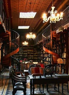 Library, London, England photo via jennie Spiral staircase all around the library... The walls