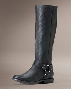 Women's Antiqued Phillip Harness Tall Boot - Black - need it in 8.5 wide.