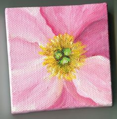 Pink Peony Center   original  mini painting on by SharonFosterArt, $22.00