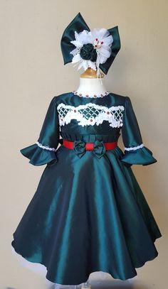 A personal favorite from my Etsy shop https://www.etsy.com/listing/470457986/hunter-green-girls-dress-girls-dress
