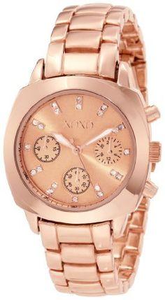 only 20 bucks..XOXO Women's XO5568 Rosegold-Tone Bracelet Analog Watch XOXO, http://www.amazon.com/dp/B009T09BT8/ref=cm_sw_r_pi_dp_3HXerb16FD411