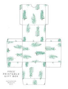 DIY PRINTABLE LEAF AND SUCCULENT PATTERNED GIFT BOXES.